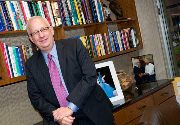 President of Kent State University Lester Lefton. Photos Bob Perkoski