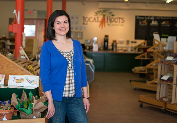 Jessica Eikleberry of Local Roots Market & Cafe - photo Bob Perkoski