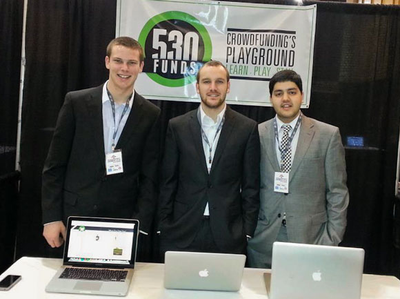 The 530Funds team in Memphis at the Nibletz Startup Conference. Richard Rodman, Max Heckel, and Roha